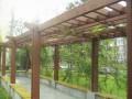 邯郸绿林防腐木花架的维护颐养