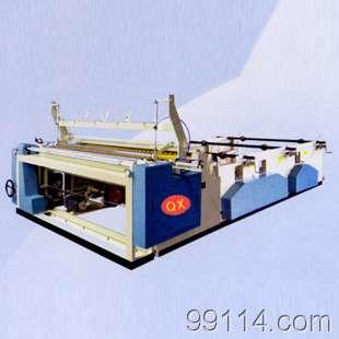 JFFJC型全自动修边喷胶封口压花打孔复卷机
