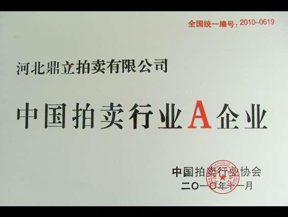 中国拍卖行业A企业