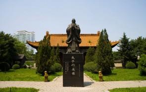 孔子人物雕塑 广场铜雕塑