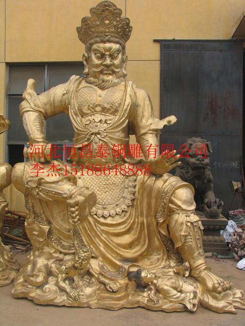 四大天王人物雕塑