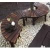 石家庄炭化木户外桌椅