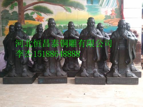 铜雕孔子报价,孔子雕塑加工