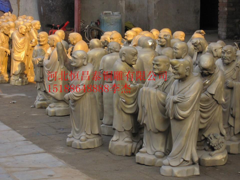 八仙过海雕塑,八仙神像铜雕