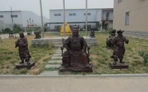 关公  彩绘关公-广场铜雕塑
