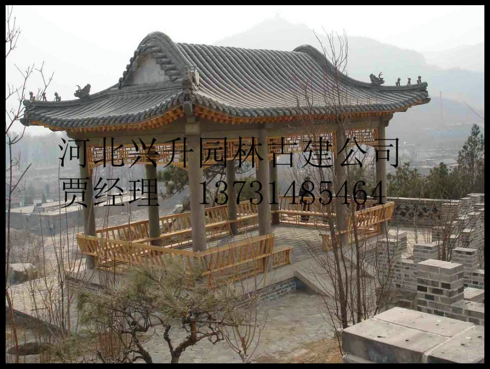 古建大殿水榭建筑