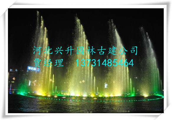 人工湖音乐喷泉制作
