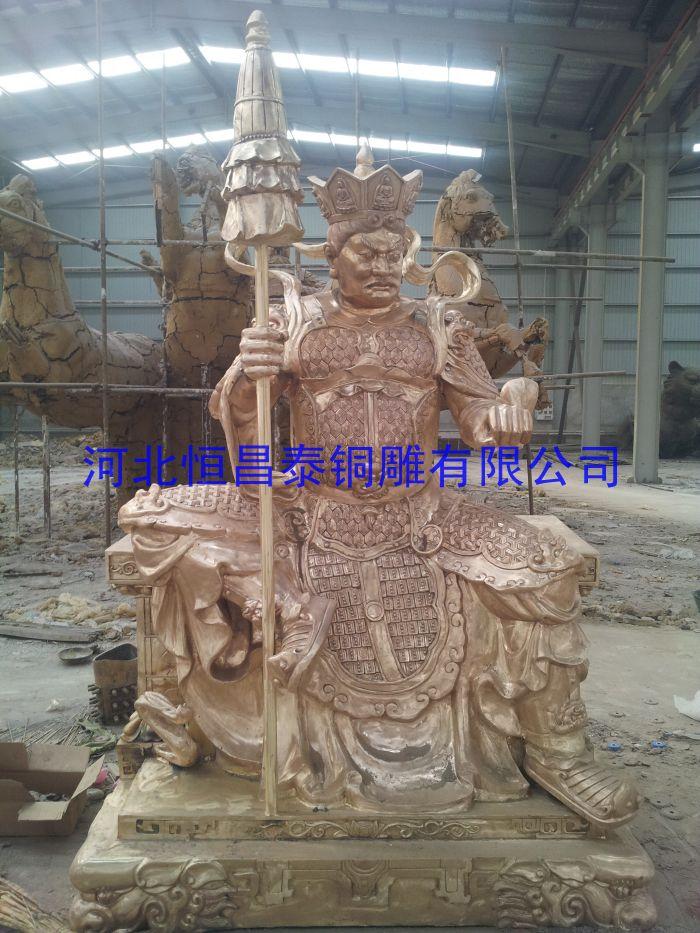 恒昌泰四大天王雕塑供应   四大天王雕塑铸造价格