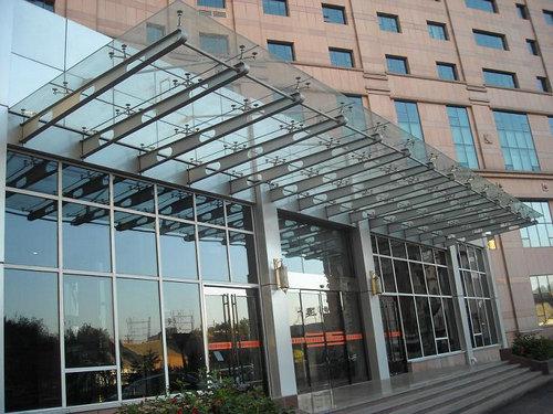 钢结构玻璃立面 展厅