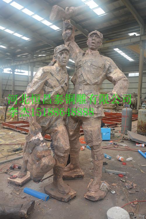 古铜色革命人物雕塑   革命人物雕塑来图来样定制