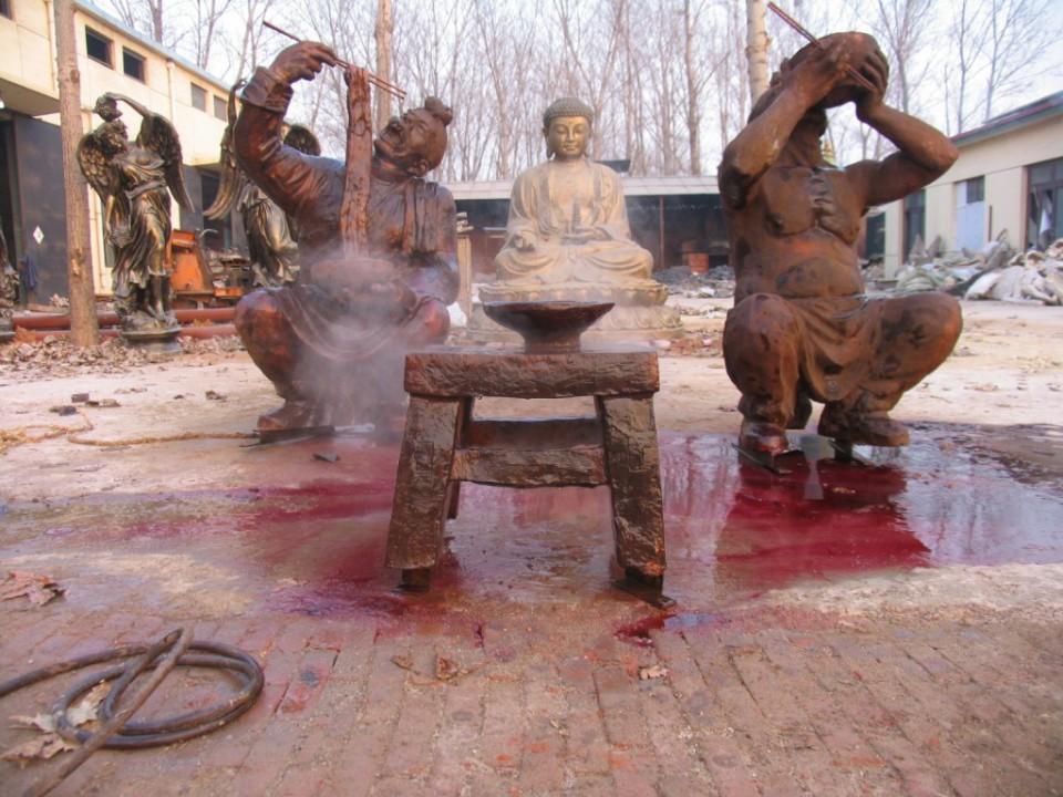 拉面人物雕塑  古代人物雕塑