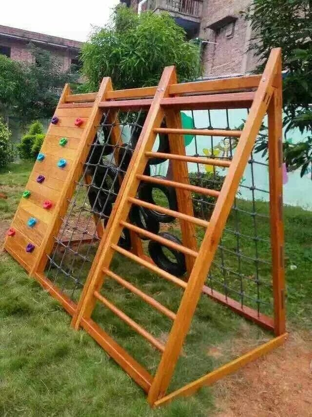 木制攀爬架