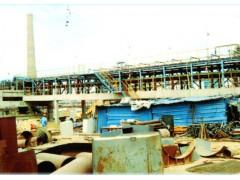 铸渣机安装现场