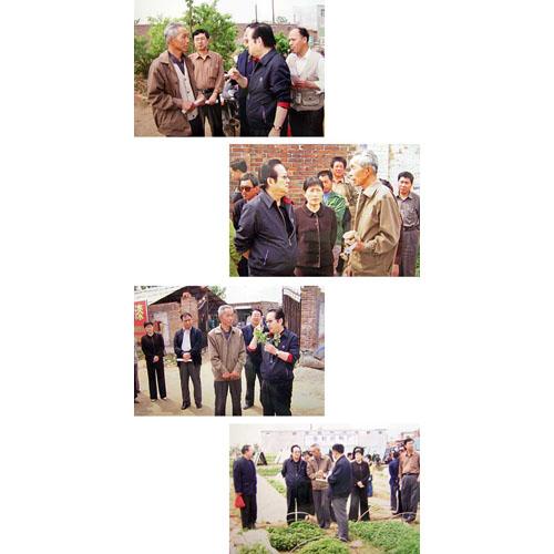 协会会长刘山林在红薯基地现场与领导、专家交流情况