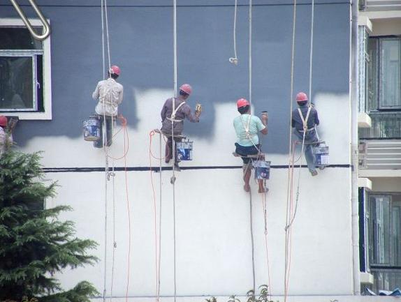 蜘蛛人外墙北京真石漆施工