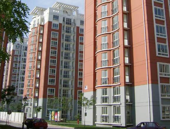 住宅楼现代风格套色涂料效果