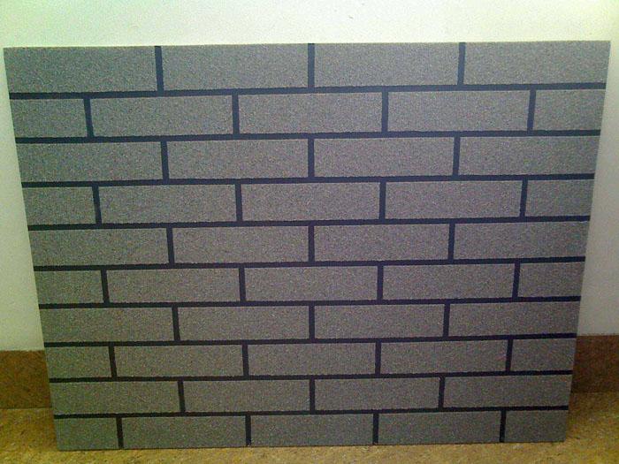灰色仿砖质感涂料