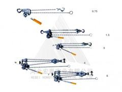 镁铝合金链条手扳葫芦