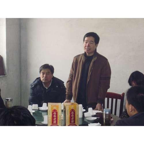 河南省农科院甘薯专家蒋旭在年会上讲话