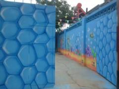 石家庄正定县幼儿园墙体彩绘墙体喷绘