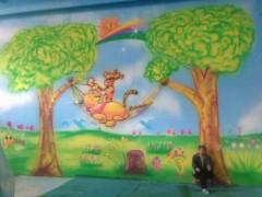 石家庄鹿泉幼儿园墙体喷绘墙体彩绘