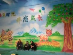 石家庄赵县幼儿园墙体喷绘墙体彩绘