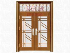 BS-8008仿銅門玻璃對開門