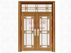 BS-8009仿銅門玻璃對開門