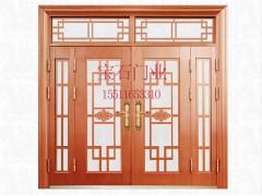 BS-8010仿銅門玻璃四開子母門(仿真銅 啞光)