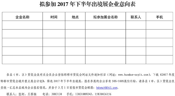 附件:参加2017年下半年出境展企业意向表.jpg