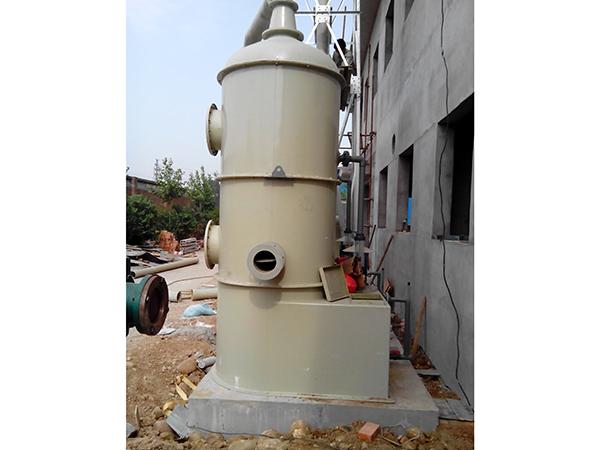 废气吸收塔施工现场