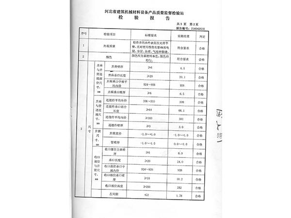 井检测报告2页
