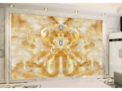 大理石纹理电视背景墙-13765628
