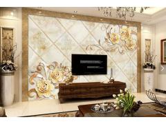 大理石纹理电视背景墙-15488279