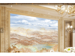 大理石纹理电视背景墙-16153701