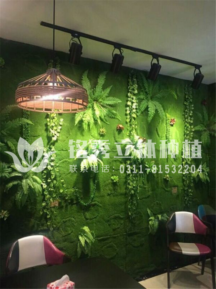 铭秀植物墙案例集-仿真植物墙