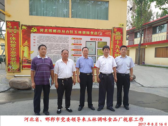 河北省、邯郸市党委领导来玉林调味食品厂视察工作