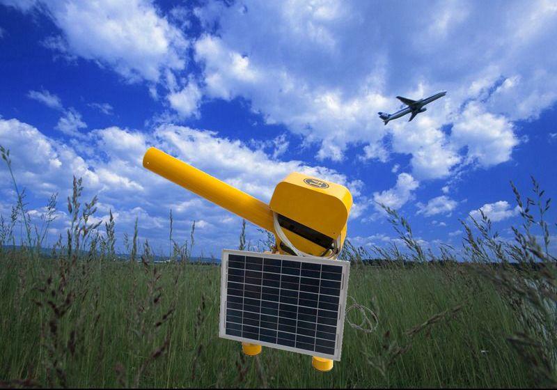 太阳能驱鸟煤气炮