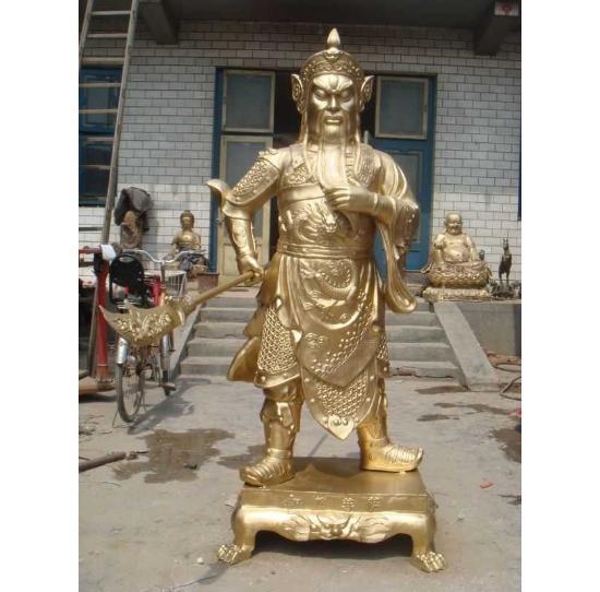 关公铜雕佛像