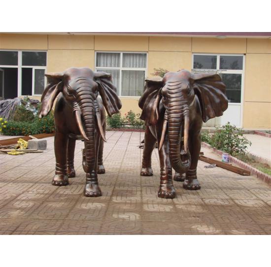 铜大象动物铸造