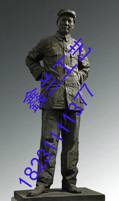 铜雕塑伟人--=毛泽东