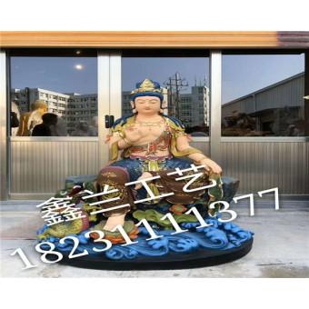铜雕文殊菩萨玻璃钢雕塑