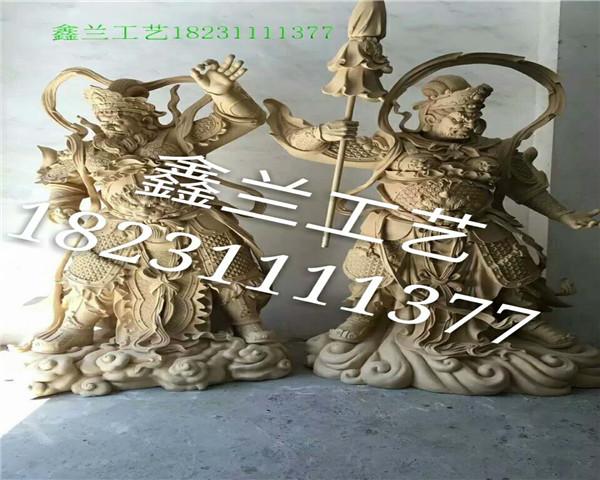 四大天王铜雕佛像——玻璃钢雕塑
