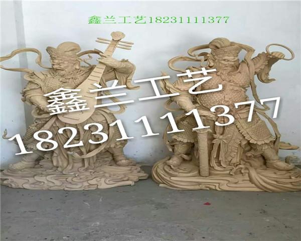 四大天王铜雕佛像
