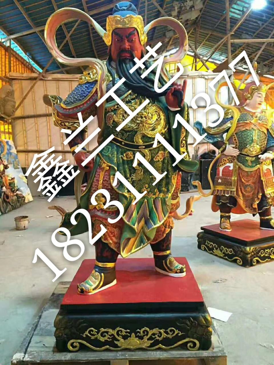 铜雕伽蓝菩萨