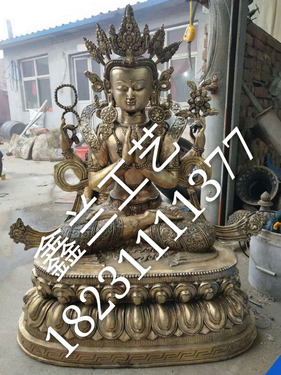 藏传佛像----铜雕四臂观音