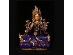 铜雕绿度母----绿度母的来历传说,供养绿度母有什么功德