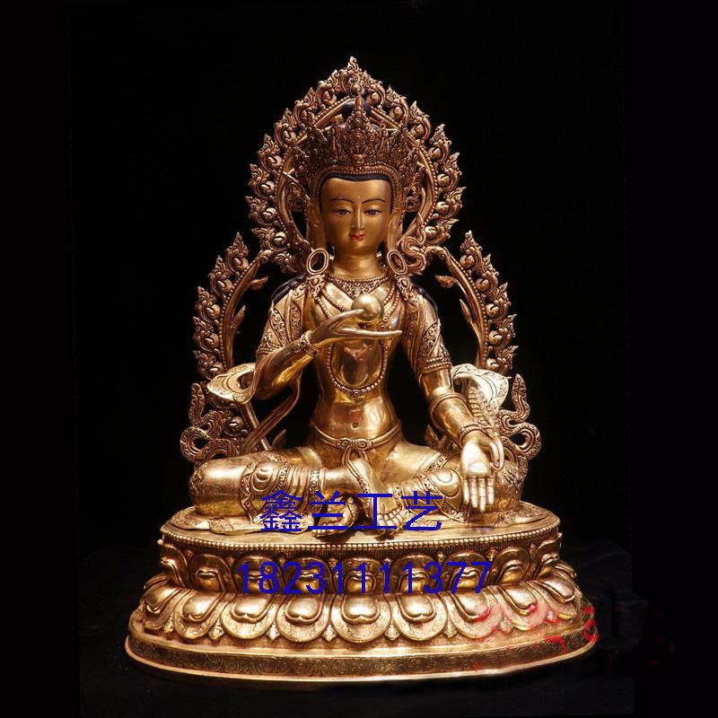 藏传铜佛地藏菩萨----化身九华及身相显现