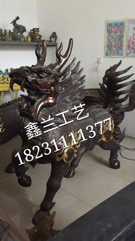铜雕麒麟铸造  铜麒麟雕塑  铜麒麟特点  铜麒麟铸造厂家