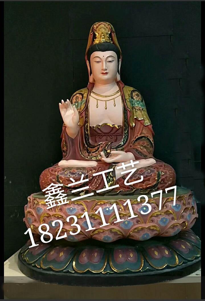 中国的佛教四大名山之首--五台山佛像厂家直销彩绘佛像